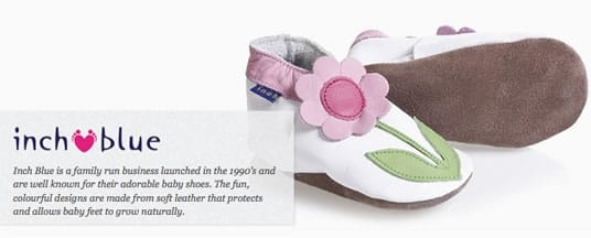 Inch Blue Baby Shoes - Baby Designer