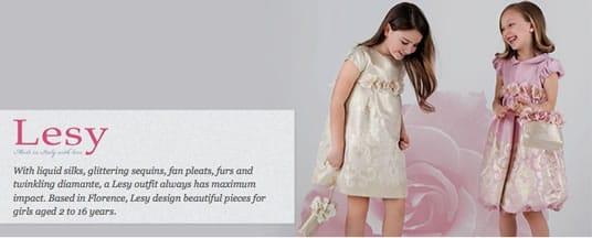37eeb3cb97 Lesy Girls Dresses - Baby Designer Clothes