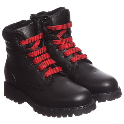 Kids Designers Leather Boots